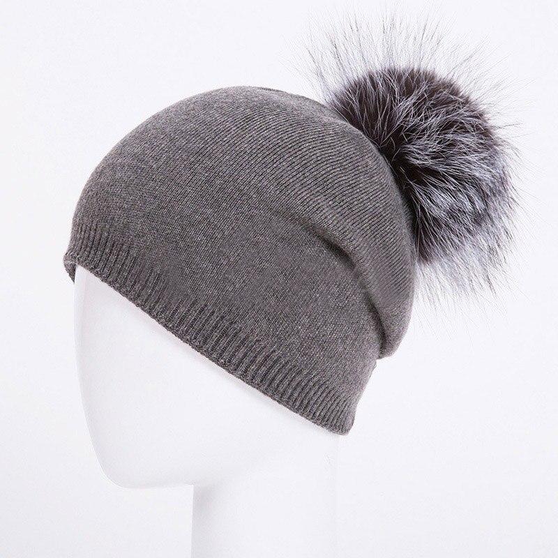 HEE GRAND/женская шапка, зимние вязаные шапки унисекс из шерсти енота, шапки с перьями для мужчин, меховая шапка куполообразная, Прямая поставка PMT089 - Цвет: Color-10