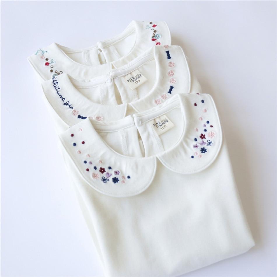Jesen Modna odjeća za djecu Bijela udobna pamuk Slatke male djevojke - Dječja odjeća - Foto 5