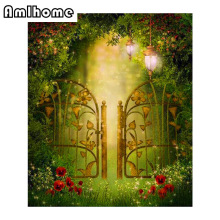 Diy Diamond Painting Cross Stitch Garden Iron Gates Full Square Diamond  Embroidery Needlework Mosaic Kit Diamond Home Decor CC
