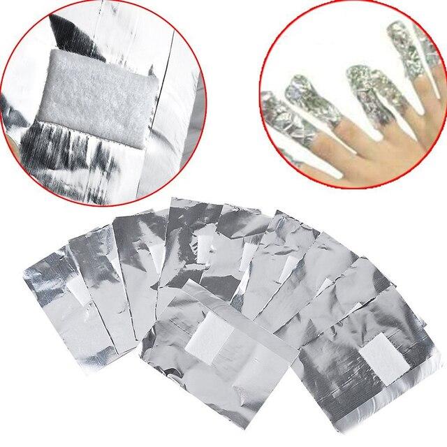 Hot 100pcs Lot Aluminium Foil Nail Art Soak Off Acrylic Gel Polish Removal