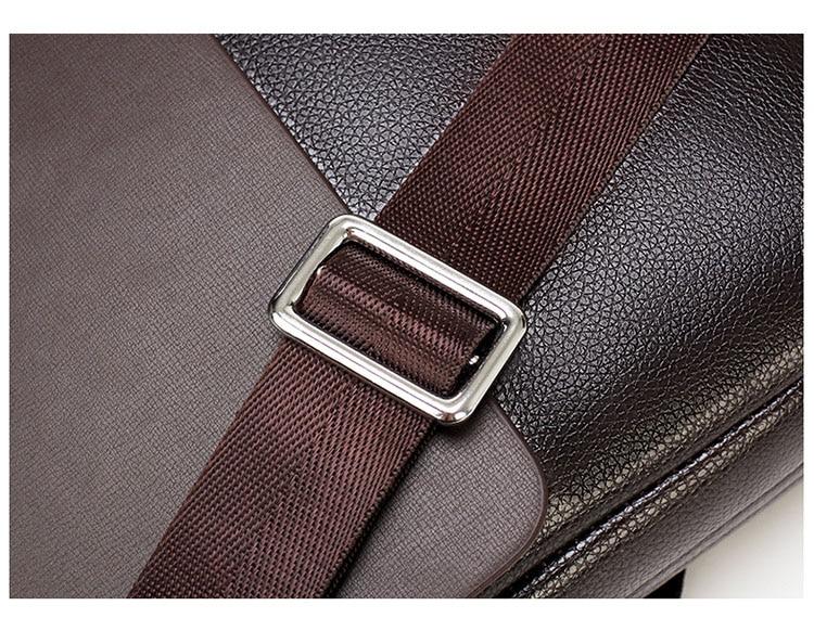 HTB18o71O7zoK1RjSZFlq6yi4VXaM 2020 Fashion Business Men Briefcase Leather Laptop Handbag Tote Casual Man Bag For male Shoulder Bag Male Office Messenger Bag