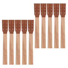 Acoustic Guitar Neck for Guitar Parts Replacement Luthier Repair Diy Unfinished Sapele Head Veneer Pack of 10