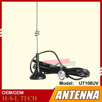 цена на Mini Magnetic HF Antenna Vehicle Mounted Car Antenna 144/430MHz Dual Band SMA/BNC Suction Dish Two Way Radio Antenna For Baofeng