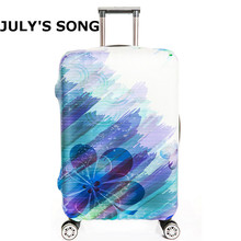 Beautiful Flower Oil Painting Luggage Cover Elastic Travel Luggage Protective Suitcase Cover for 18 32inch Travel