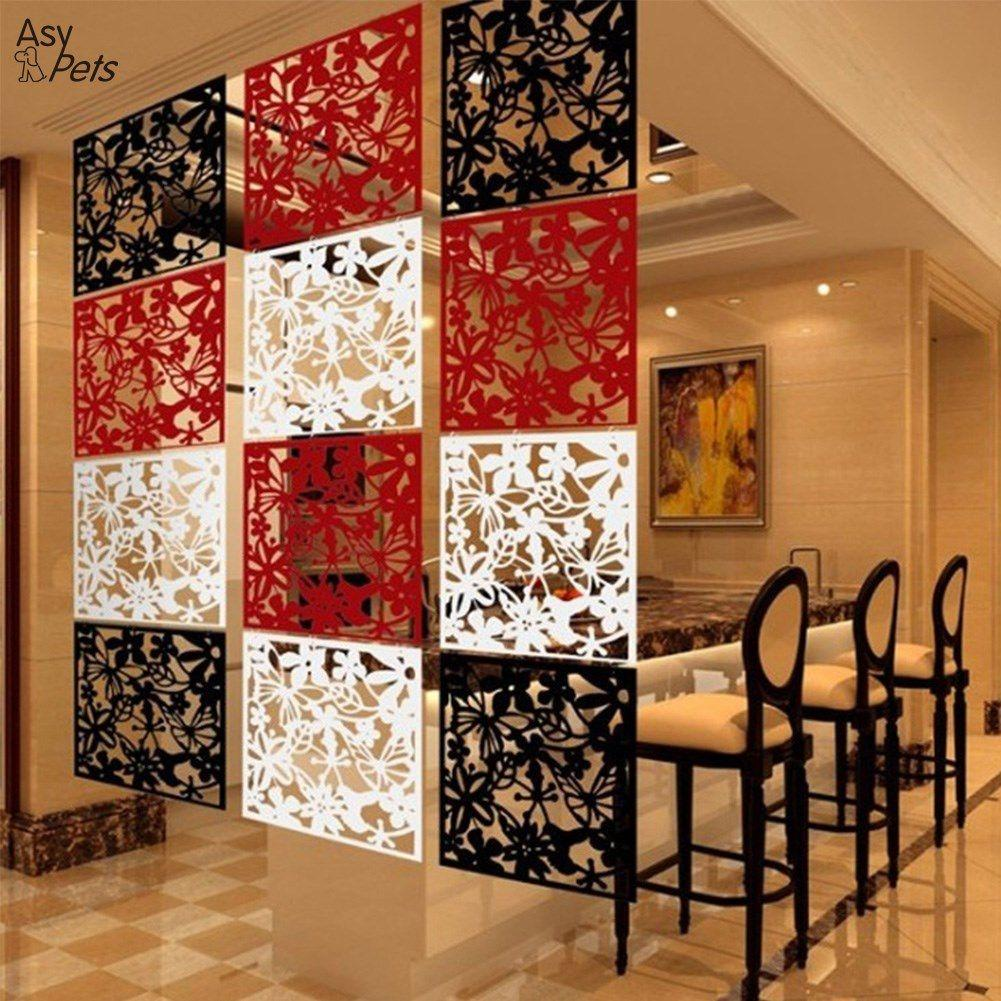 AsyPets 4pcs Modern Hanging Screen Butterfly Flower Hollow Curtain Room Divider Partition Home Christmas Decoration-20