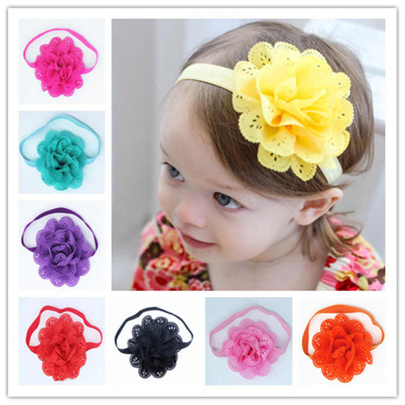 Childrens Hair With Baby Hair Band Elastic Band Pierced Baby Infant Headwear Solid Fashion Novelty Headbands Accessories