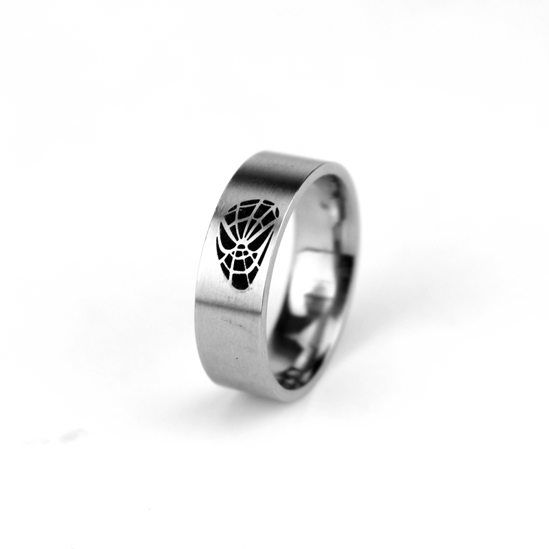 Big Promotion Wholesale Brand <font><b>Ring</b></font> Superhero <font><b>Spiderman</b></font> Stainless Steel Spider-man Silver Jewelry Luxury Party <font><b>Rings</b></font> Size7-13