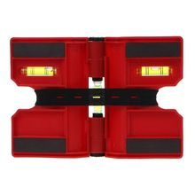 Spirit-Level Pipe Angle-Gauge Magnetic-Inclinometer Adjustable with Strap 270degrees