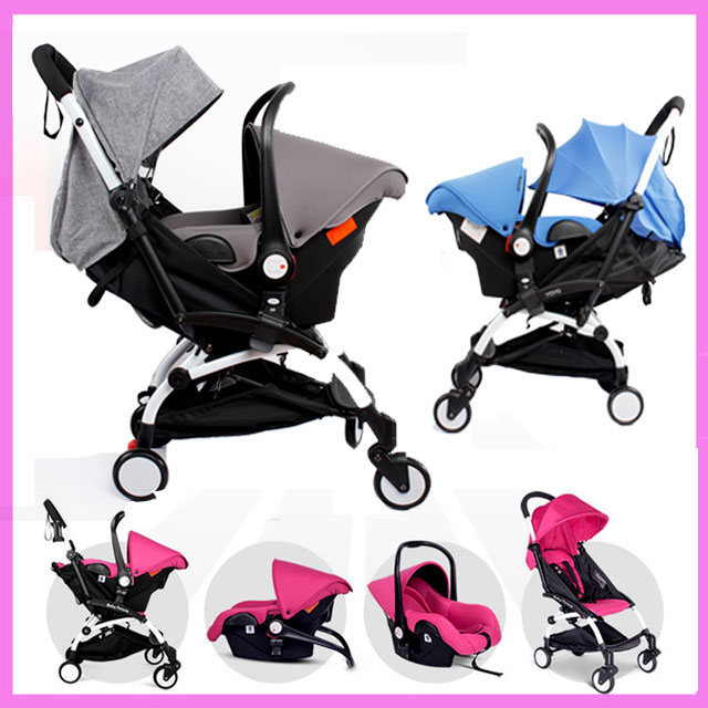 4 In 1 Portable Folding Baby Stroller Basket Type Car Safety Seat Buggy Pram Child Umbrella Carriage Cart Brand Quality luxury baby stroller with carrycot pram set 2 in 1 baby stroller trolley baby car child folding cart bassinet light