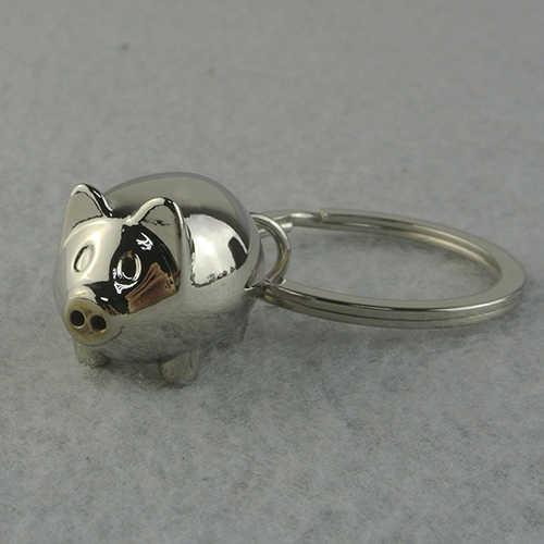1 Pc Adorável Mini Porco Chaveiro chaveiro chaveiro Anel Keyfob Presente Bonito Charme Decoração 8OUJ
