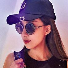 HBK Retro Round Sunglasses 2018 New Women Female Brand Desig