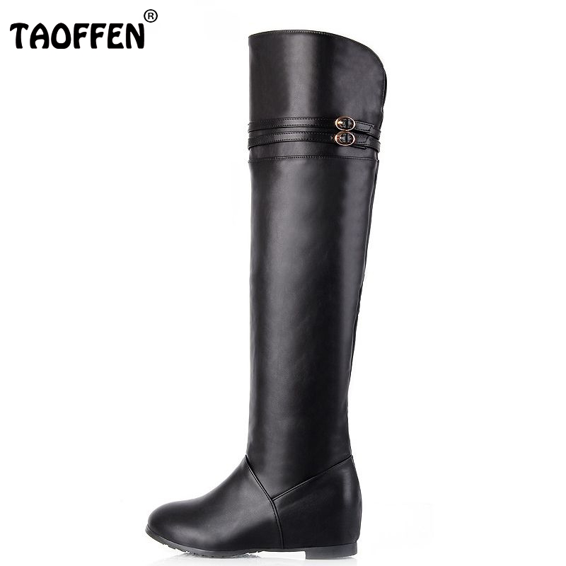Free shipping knee boots women fashion long boot winter footwear wedge shoes sexy snow warm P8689 EUR size 30-43 free shipping over knee wedge boots women snow fashion winter warm footwear shoes boot p15323 eur size 34 39