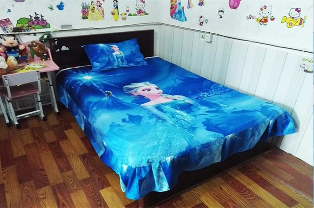 Online Shop blue color Frozen Elsa bedding set Girl\'s Children\'s ...
