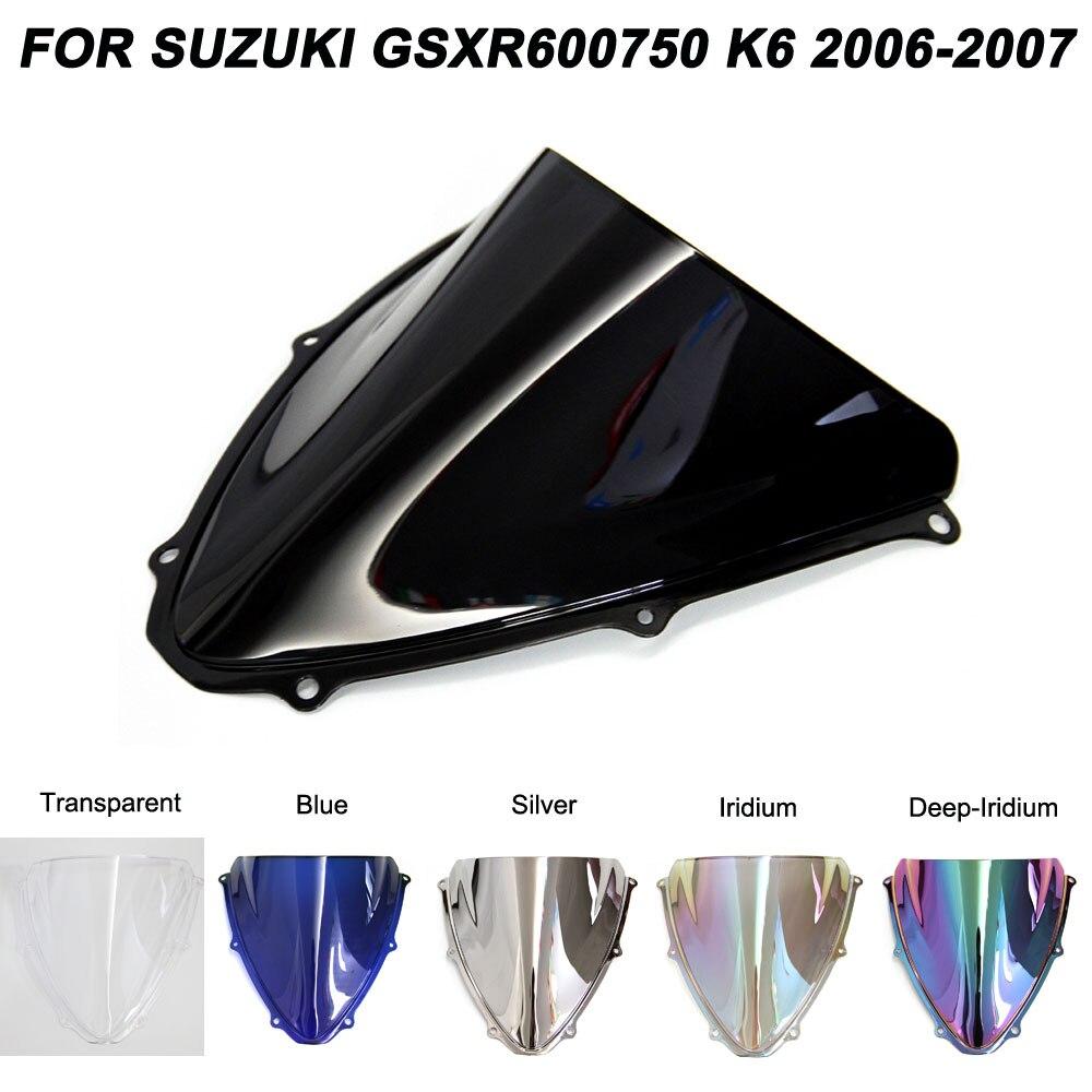 Iridium Motorcycle Double Bubble WindScreen Windshield Wind Deflectors Motorbike screen Airflow For Honda VFR800 2002-2012