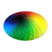 1000 Pcs/set Colorful Rainbow Round Geometrical Adult  Kids DIY Educational Decompression Toy Puzzle Paper