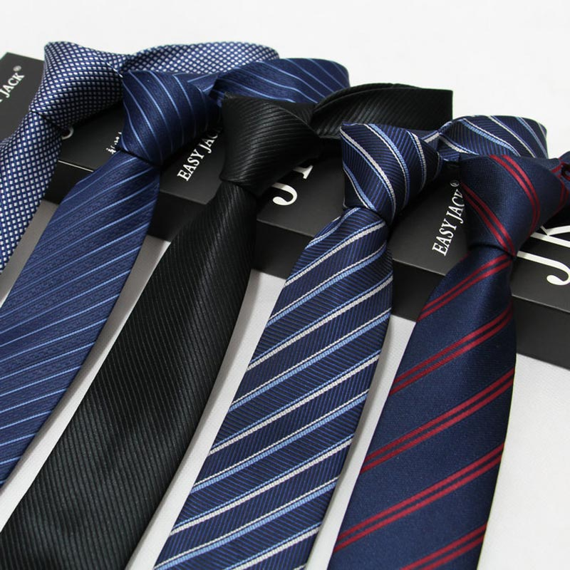 Factory 7CM Classic Mens Ties Polyester Silk Stripes Dark / Bright 20 Styles Formal Bridegroom Wedding Business Necktie Neck Tie