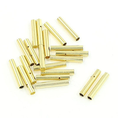 20 PCS 2mm Gold Tone Metal Bullet Connector Banana Plug for RC Helicopter imc hot new 20 pairs gold tone metal rc banana bullet plug connector male female 4mm