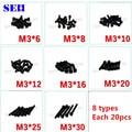 M3 de cada 12.9 preto de aço inoxidável porca rosca