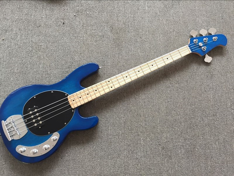2018 new factory ernie ball music man stingray transparent blue electric bass 4 string. Black Bedroom Furniture Sets. Home Design Ideas
