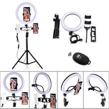 Dimbare Make Selfie Led Ring Licht Statief Stand Fotografische Camera Photo Studio Telefoon Lamp 16 26 Cm 6/10