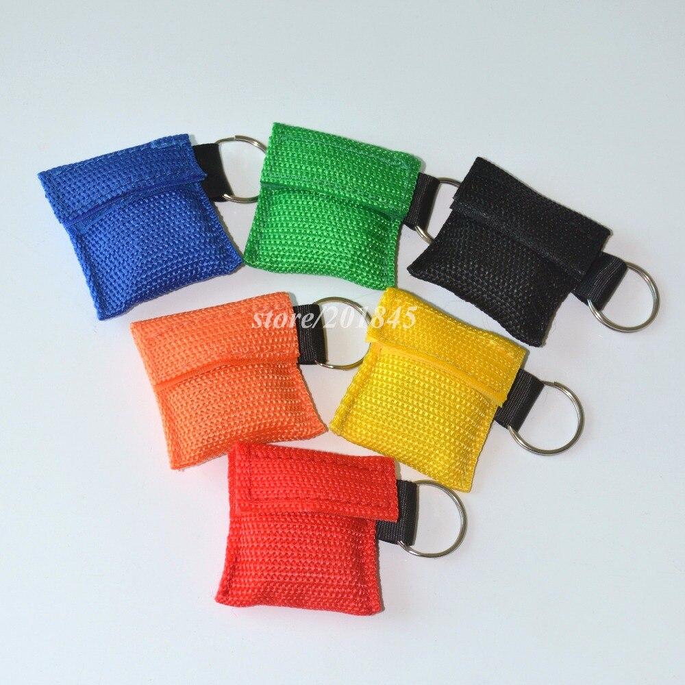 100 nueva Máscara CPR unids/lote con llavero CPR protector facial para Cpr/AED 6 colores-in Mascarillas from Belleza y salud    3