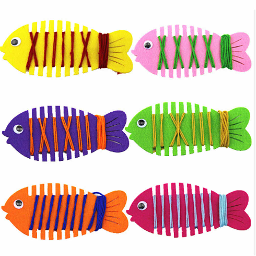 อนุบาลห่อ Threading สวมใส่ปลาคู่มือเกมปริศนาสอนคณิตศาสตร์ของเล่นการเรียนรู้การศึกษาของเล่น