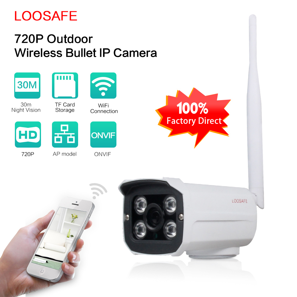 LOOSAFE Full HD 1080P Bullet IP Camera Outdoor Wifi Wireless Home Security Camera 2.0MP 1080P CCTV IP Cam With 32G SD Card full hd 1080p bullet outdoor security camera ip 960p 720p 1mp 25fps free shipping
