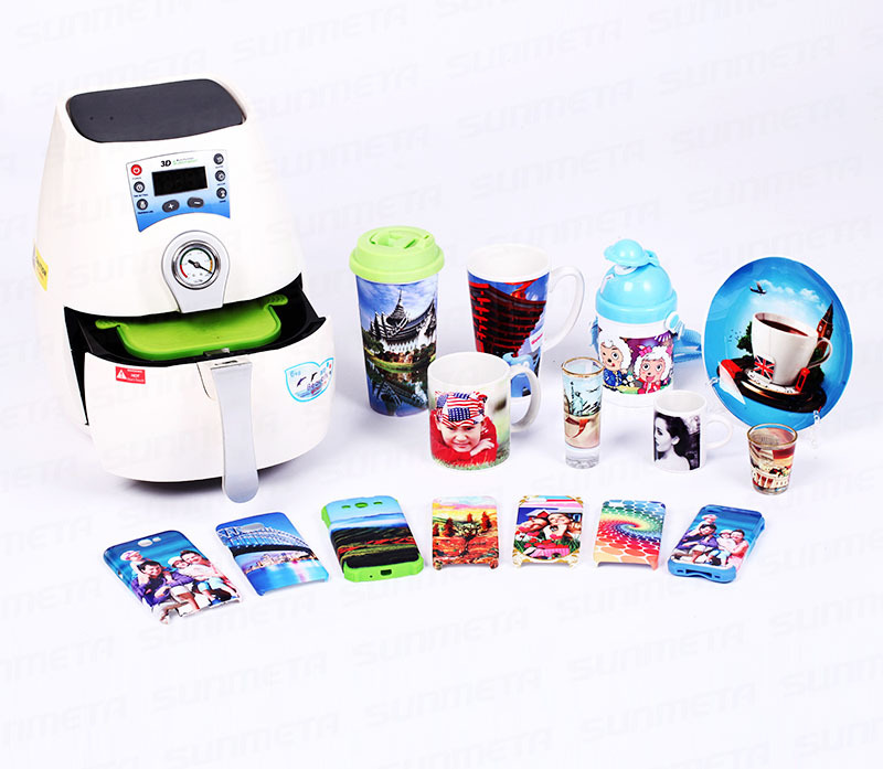 B Version Mini 3D Vacuum Sublimation Phone Case Mug Plate Transfer Package