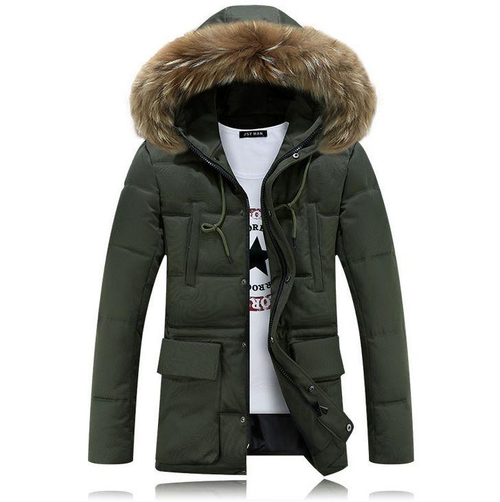 HCBLESS Hombres invierno Nagymaros cuello abajo algodón abrigo Moda - Ropa de hombre - foto 2