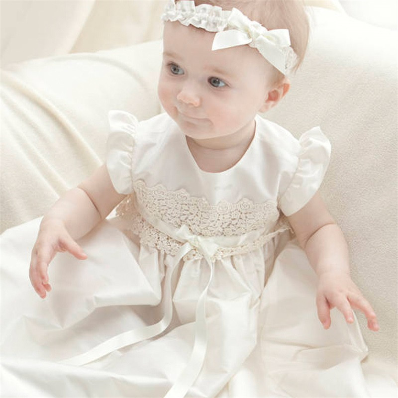 Cute Infant Lace Long Custom Made Baby Girls Newborn Baptism Rope Christening Dress blessing Gown With Bonnet cute infant lace long custom made baby girls newborn baptism rope christening dress blessing gown with bonnet