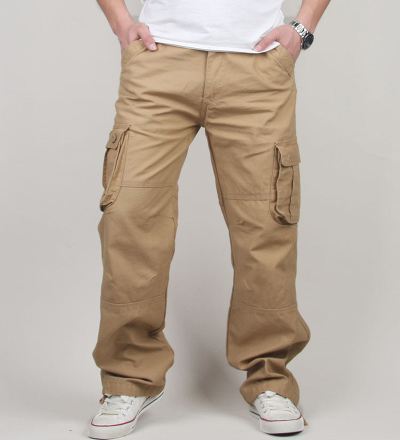 30-44 Plus Size Høy kvalitet menns fraktbukser Casual Herre-pant Multi Pocket Military Tactical Long Full Length Bukser