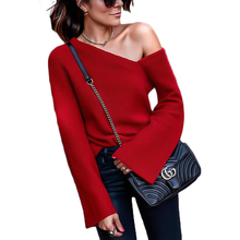цены 2019 New Sweater Women Winter Long Sleeved Strapless Blouse Blusas De Inverno Feminina Gilet Femme Manche Longue Pullover Women