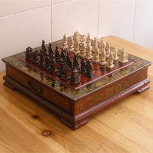 Терракотовая армия античный Шахматный набор доска коробка резные уникальные винтажные коллекционные