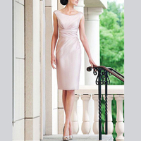 Gorgeous Sheath Ruffles Knee Length With Jacket Custom Made Women's Dresses mother of the bride dresses plus size