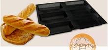 6,7 zoll Unter Rollen Backform antihaft Silikon Französisch Brot Schimmel 6 Brote Baguette Tablett Perforierte Sandwich Brot Matte