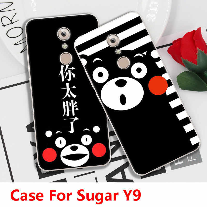 Fastion Cartoon Cat  Dog  Fish Case For Sugar Y9,TPU Painted Mobile Phone Shell Lovely Color Painting Case.18 Colors!