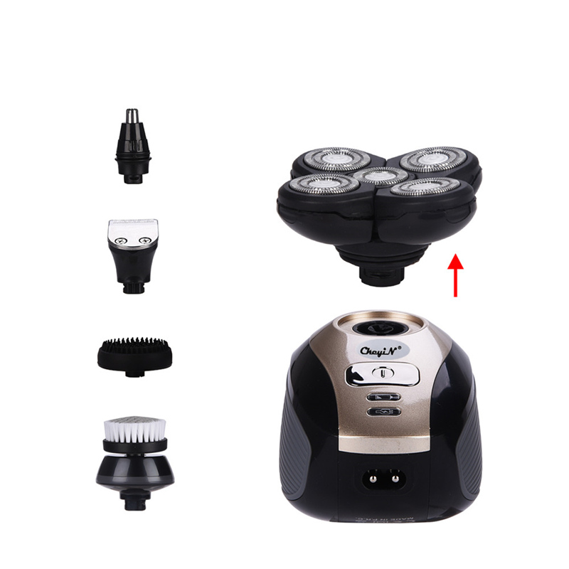 5in1 Multifunction Electric Nose Hair Trimmer Clipper Ricoh head Shave Bald Machine Rechargeable 4D Floating Head Razor Shaver56