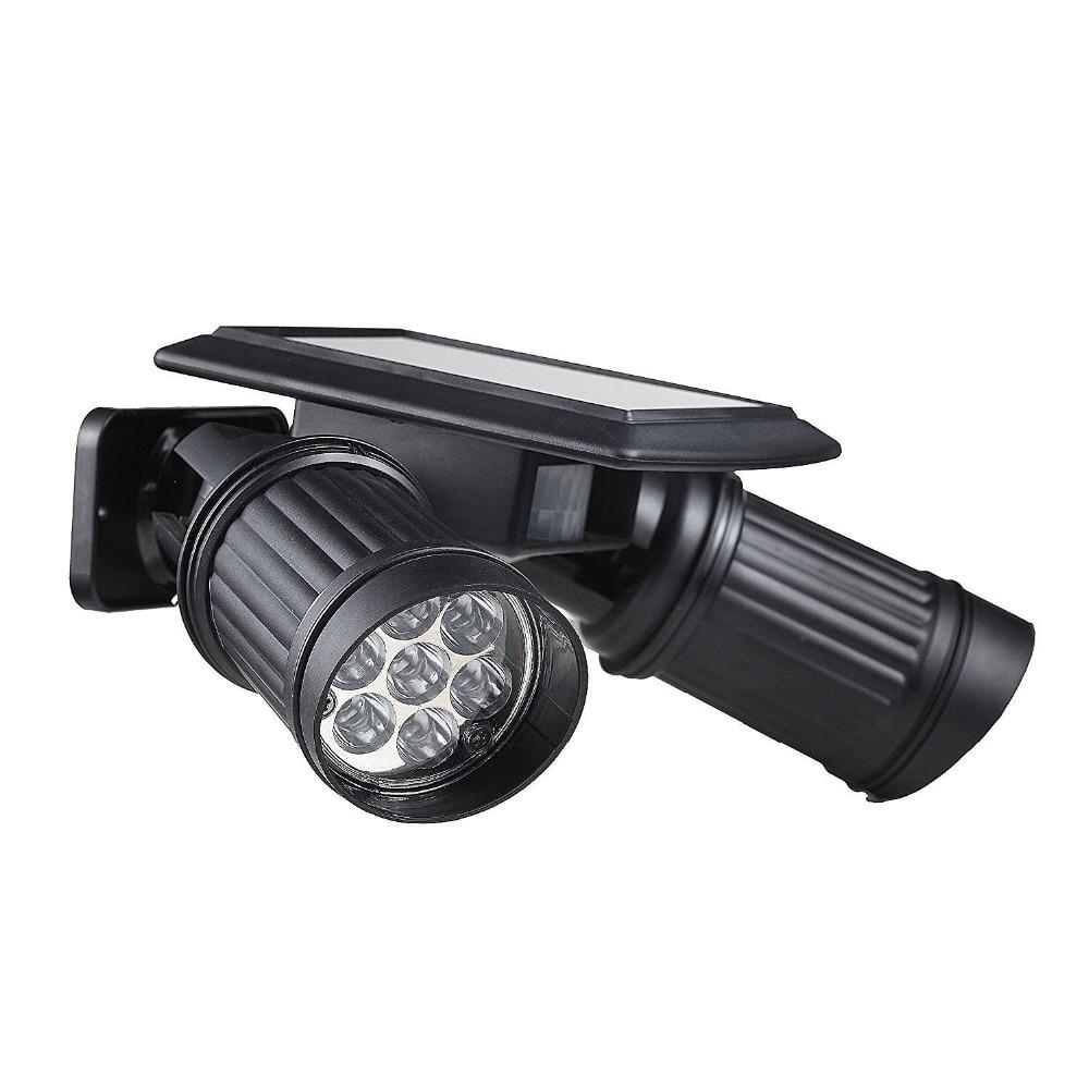 14 led solar powered lights pir pir motion sensor dual for Detecteur de mouvement eclairage exterieur