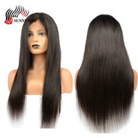Sunnymay Full Lace Wigs Human Hair Indian Virgin Hair Silk Straight Pre Plucked Lace Wigs With Baby Hair Natural Hairline