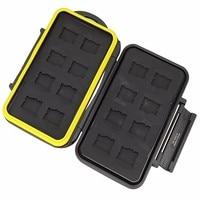 16 Slots Micro SD Speicherkarte Fall Wasserdichte Aufbewahrungsbox MC-MSD16 für 16 TF karten Billig Preis