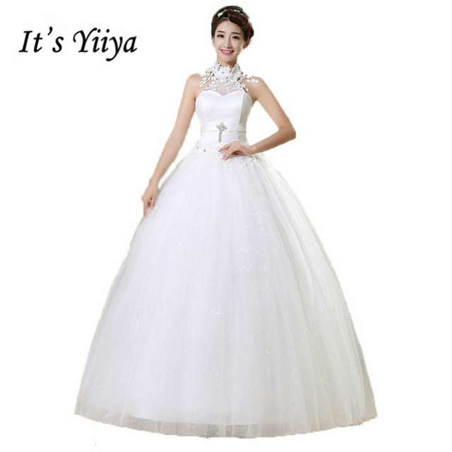 Its yiiya wedding gowns 2017 plus size lace wedding dress halter its yiiya wedding gowns 2017 plus size lace wedding dress halter sexy white cheap design bride junglespirit Image collections