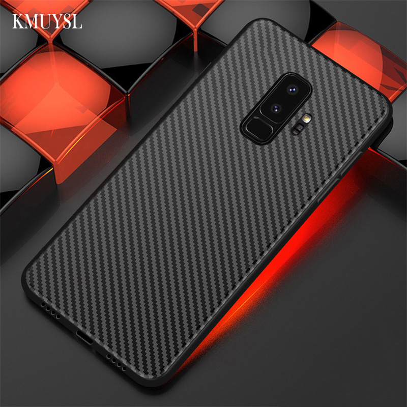 Carbon Fiber Phone Case For Samsung Galaxy A7 A9 A6 A8 J8 J6 J4 2018 A3 A5 2017 Note 9 S10e S8 S9 Plus S7 Edge Soft Cover Coque image