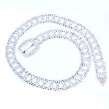 StoneFans Shiny Women's Full Rhinestone Waist Belt Adjustable