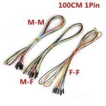 1 м макетная Перемычка провода 20 шт./лот 1pin 100 см M-M M-F F-F 2,54 мм DuPont кабельная линия для электронного DIY эксперимента