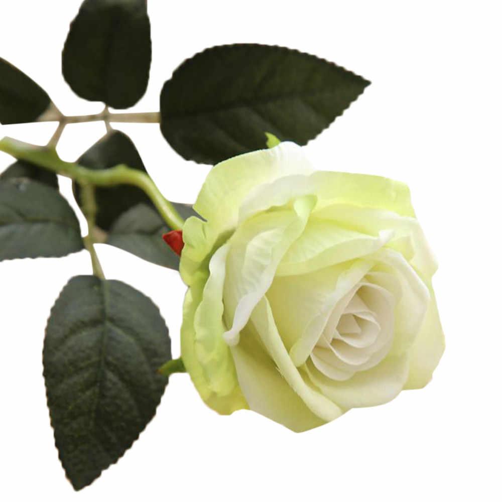 Decoratives Gefälschte Blumen Bouquets Künstliche Gefälschte Rosen Flanell Blume Braut Blumenstrauß Hochzeit Home Decor USPS # N05