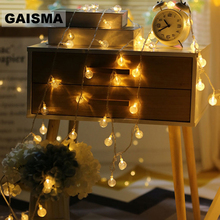 20M 200 Bulbs Ball Christmas LED String Lights Decoration Garland Wedding Fairy Lights For Party Garden Holiday Lighting Outdoor недорого
