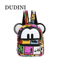 DUDIN Women Mini Backpack Lovely Mouse Ears Small Backpack Canvas Material Notebook Backpack Shoulders Bag For Girls Kids