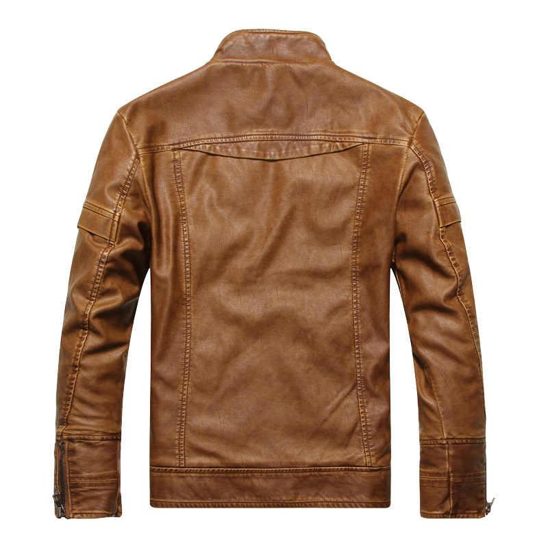 2018 новая мотоциклетная кожаная куртка мужская осенне-зимняя кожаная одежда мужские кожаные куртки мужские деловые повседневные пальто для мужчин