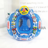 2016 New Arrival Cartoon Cute 72cm*74cm*30cm Inflatable Swim Accessories High Safety Kids Floats Swimming Trainer Floating Ring