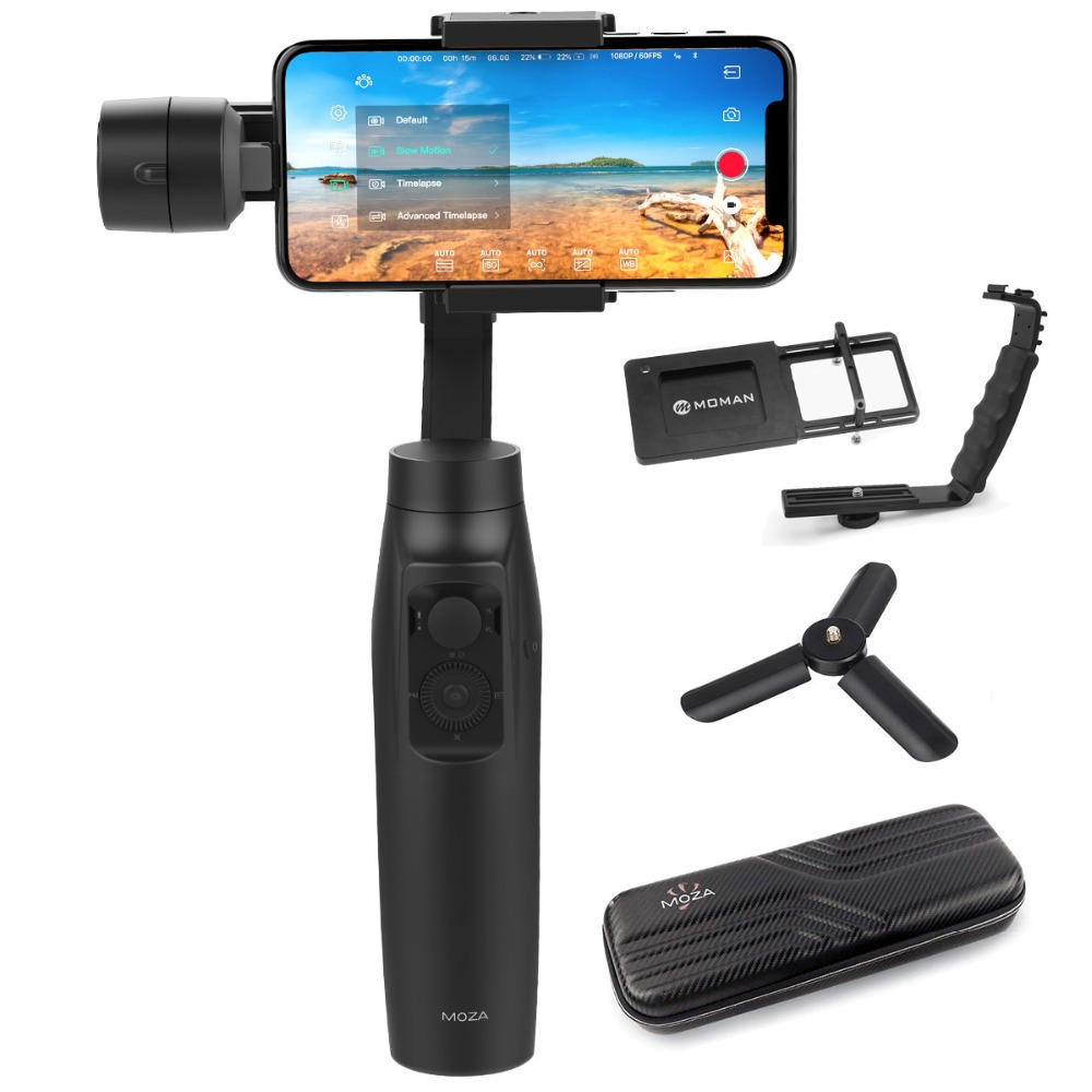 MOZA Mini-MI by Gudsen World's First Smartphone Gimbal Stabilizer with Wireless Phone Charging, Best Alternative to Smooth Q / 4